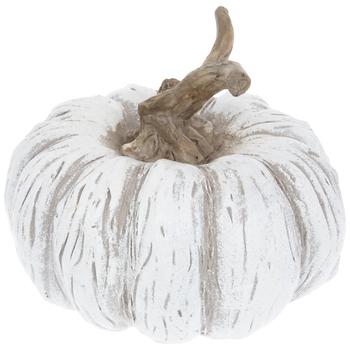 White Wood Look Pumpkin