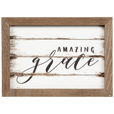 Amazing Grace Distressed Wood Wall Decor