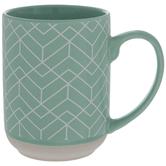 Mint Green Geometric Mug