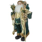 Green & Gold Standing Santa