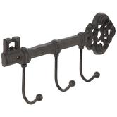 Rust Key Metal Wall Decor With Hooks