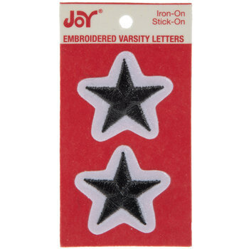 "1 1/2"" Black Star Iron-On Applique - 2 Pieces"