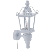Miniature White Carriage Lamp
