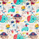 Pirate Jungle Velvet Fleece Fabric