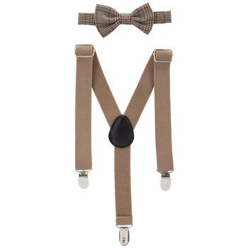 Plaid Bow Tie & Suspenders