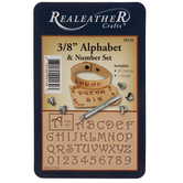 Alphabet & Number Leather Stamping Kit