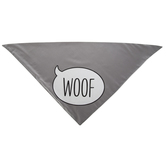 Gray Woof Pet Bandana