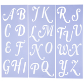 Mayfair Uppercase Alphabet Stencils