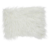 White Shaggy Faux Fur Pillow