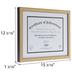 Gold Textured Document Frame - 11