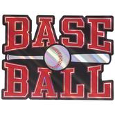 Baseball Foil Wood Wall Decor