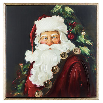 Christmas Eve Hobby Lobby 2020 Santa With Bells Canvas Wall Decor | Hobby Lobby | 5348644