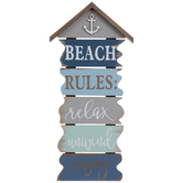 Beach Rules Wood Wall Decor