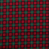 Red, Green & Black Plaid Cotton Fabric