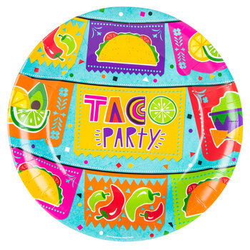 Taco Party Paper Plates - Large
