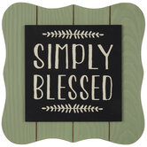 Simply Blessed Wood Decor