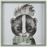 Skunk In Bow Tie Wood Wall Decor