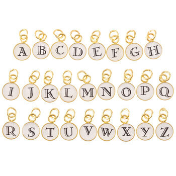 Round Letter Charms