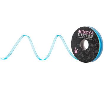 "Playacar Blue Organza Ribbon - 1/8"""