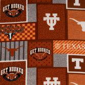Texas Block Collegiate Fleece Fabric