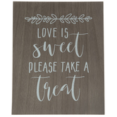 Please Take A Treat Wood Decor