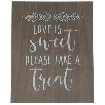 Please Take A Treat Wood Decor