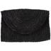 Black Woven Straw Clutch