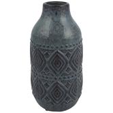 Blue Tribal Print Vase