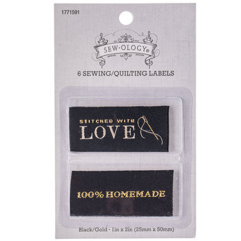 Black & Gold Iron-On Labels