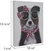 Border Collie With Glasses Canvas Wall Decor