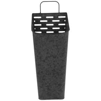 Charcoal Galvanized Metal Wall Planter