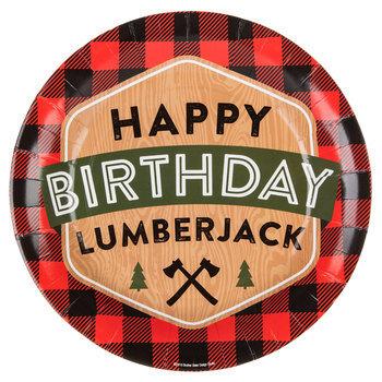 Happy Birthday Lumberjack Paper Plates