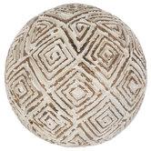 White & Tan Squares Decorative Sphere