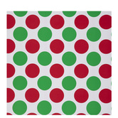 White, Green & Red Polka Dot Gift Wrap