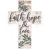 Faith, Hope & Love Cross Magnet