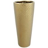 Gold Diamond Cylinder Vase