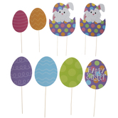 Easter Wood Garden Stakes