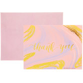 Pink & Gold Marble Thank You Cards