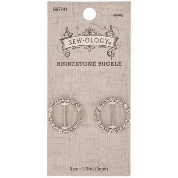 Round Rhinestone Buckle