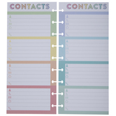 Rainbow Contacts Half-Sheet Happy Planner Paper