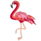 Pink Flamingo Iron-On Applique