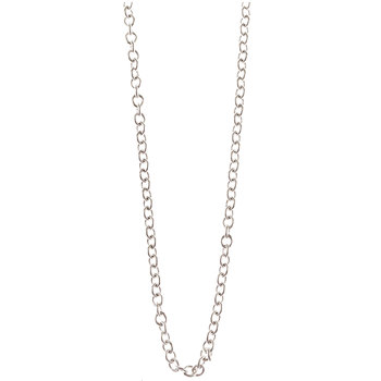 """Sterling Silver Plated Cable Chain Necklace - 18"""""""