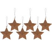 Rusty Mini Metal Star Ornaments