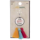 Think Happy Tassel Pendant
