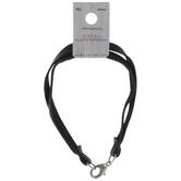 Black Leather Double Bracelet