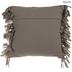 Metallic Gray Woven Fringe Pillow
