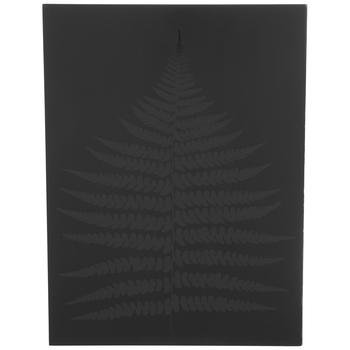 Black Glossy Fern Wood Wall Decor