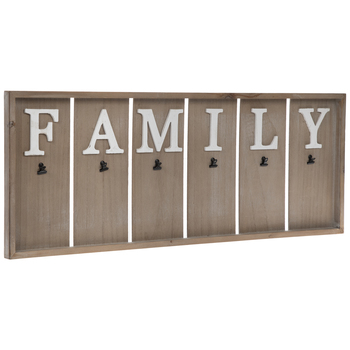 Family Wood Plank Memo Board With Clips
