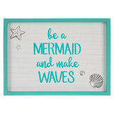 Be A Mermaid Wood Wall Decor