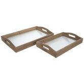 Glass Bottom Tray Set